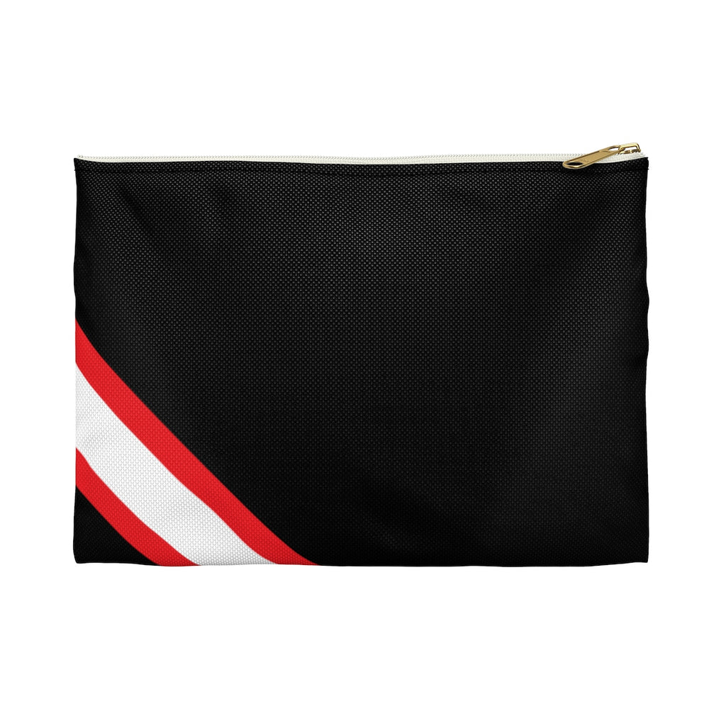 Black with Red and White StripesPouch