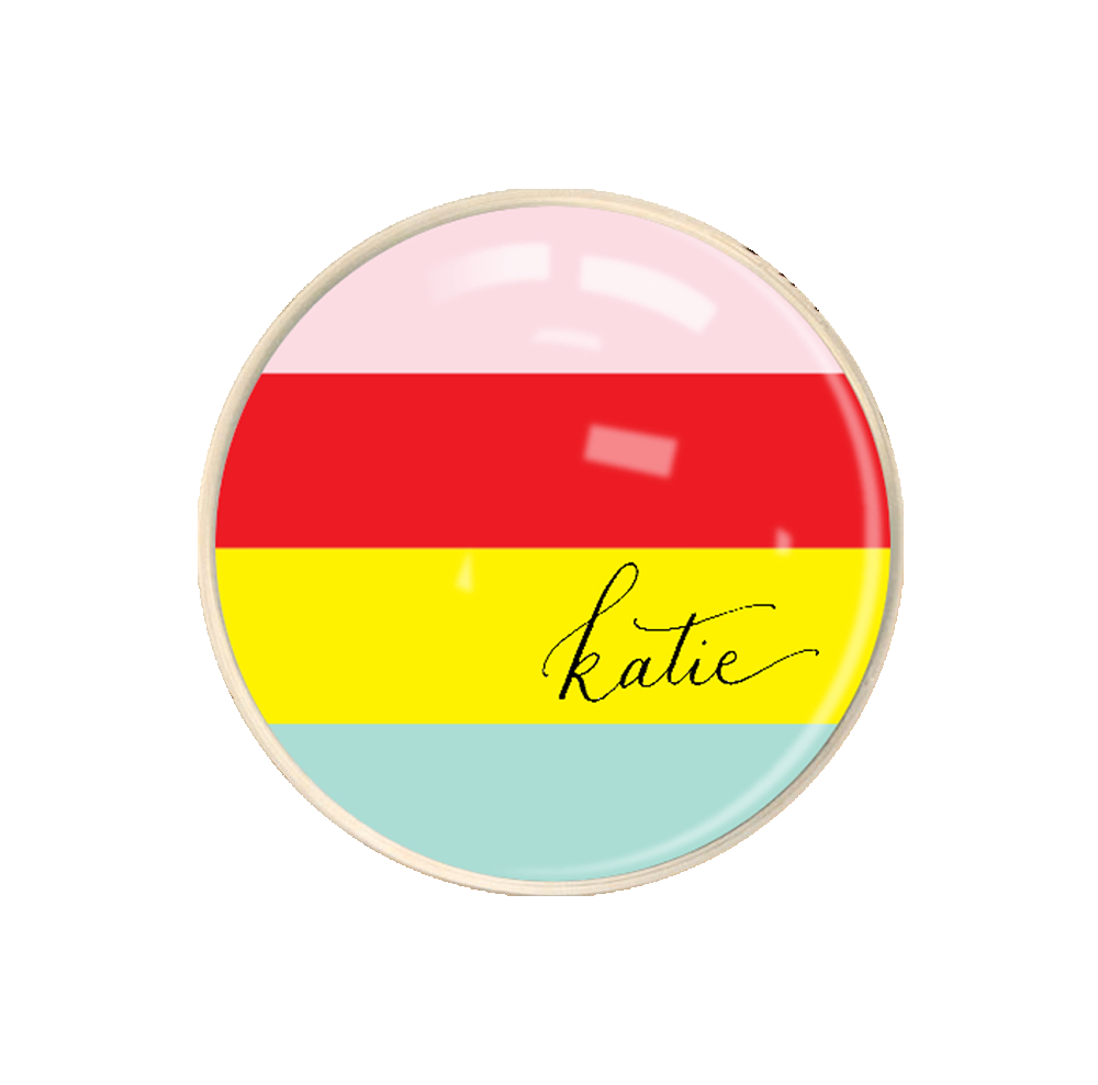 Candy Striped Name Paperweight