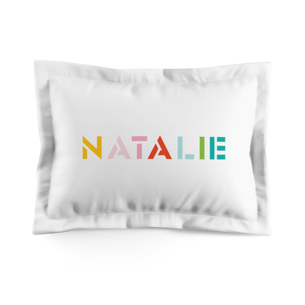 Rainbow Stencil Pillow Sham