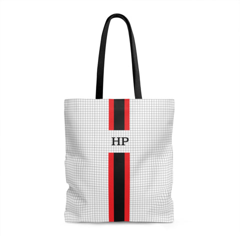 Grey Graph Monogram Tote Bag