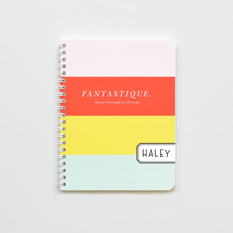 Candy Striped Notebook