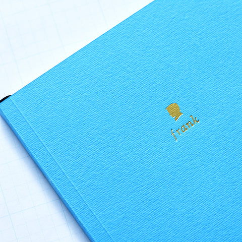 Cyan Personalized Foil Journal