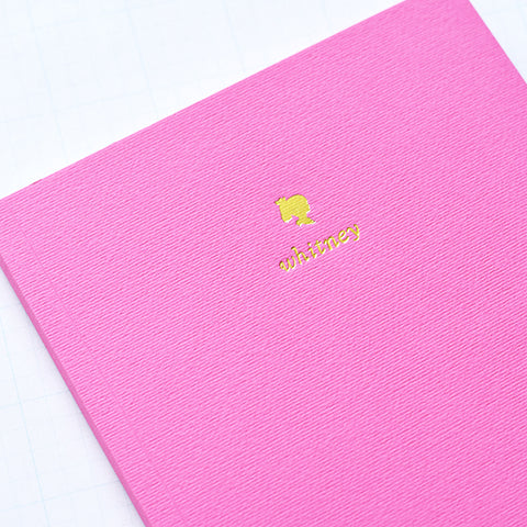 Hot Pink Personalized Foil Journal