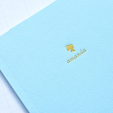 Light Blue Personalized Foil Journal