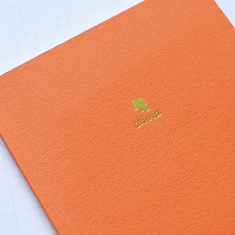 Orange Personalized Foil Journal