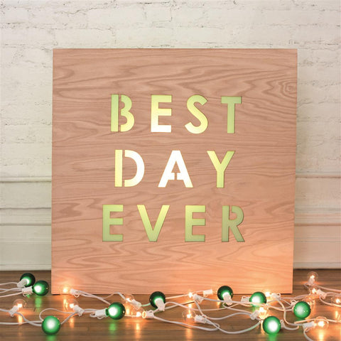 Wooden Light Box