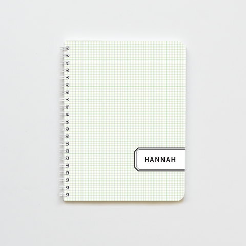 Green Graph Label Notebook