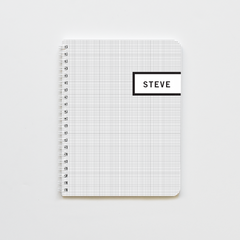 Grey Graph Label Notebook