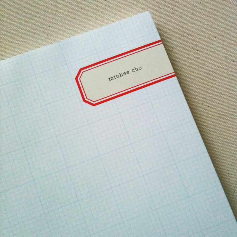 Personalized label notepad