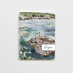 Girl On Rock Notebook