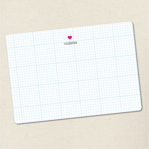 Personalized graph heart flat card