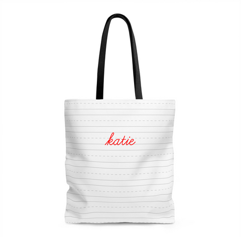 Dashed tote Bag