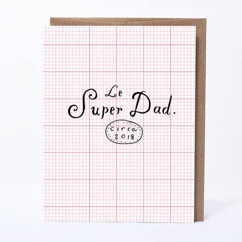 Le Super Dad Card