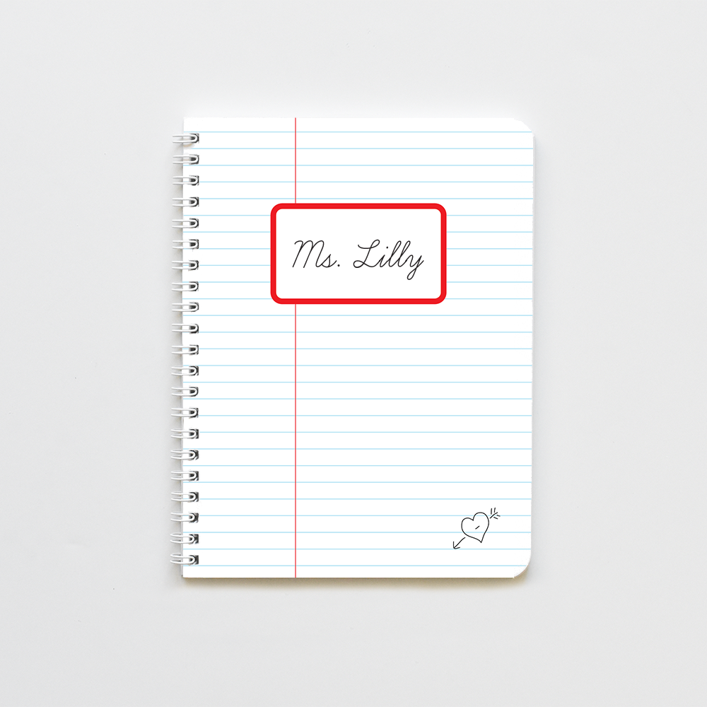 lined live previed notebook-product personalizer