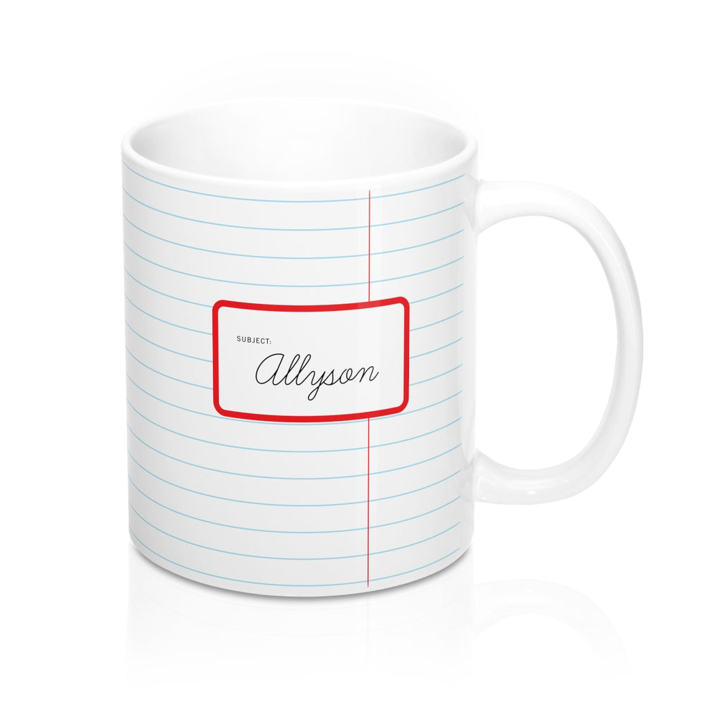 Old School Lined Mug