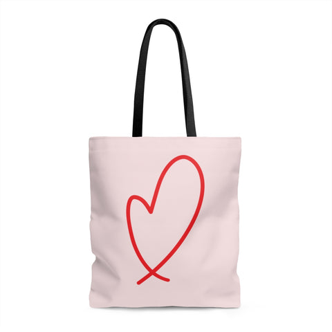 Loopy Heart Tote Bag