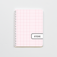 Red Graph Label Notebook