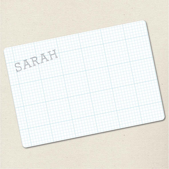 block letter graph flat card