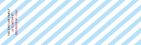 striped mailing label