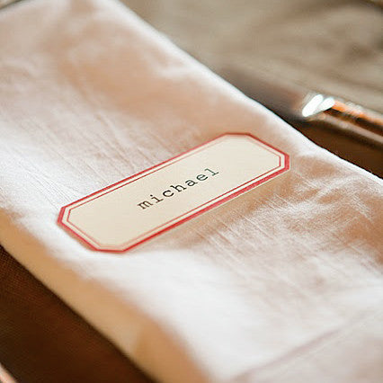 Vintage label place card