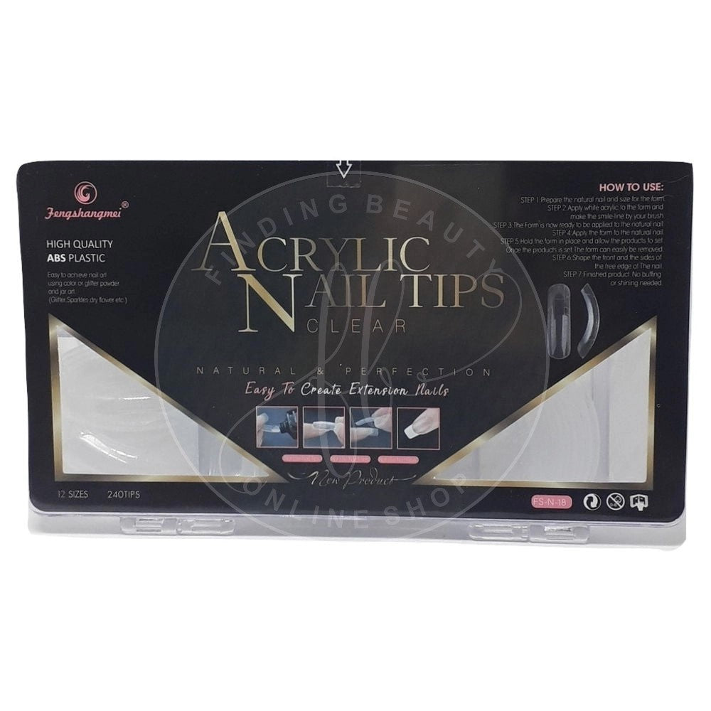 Acrylic Nail Tips - Dual Forms 240 un.