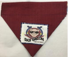 4th of July Reversible Through the Collar  Dog Bandana Sky Bacon