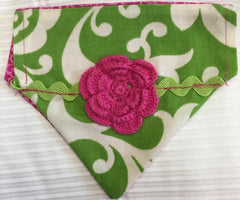 Crochet Flower Girl's Dog Bandana