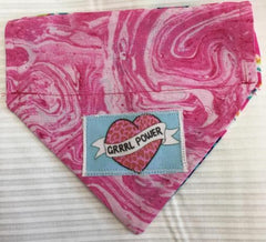 Grrrl Power Girl's Dog Bandana