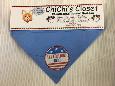 Let Freedom Ring Holiday Dog Bandana