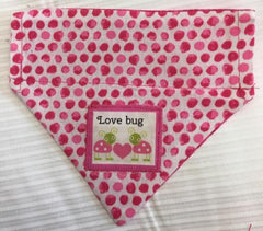 Love Bug Girl's Dog Bandana