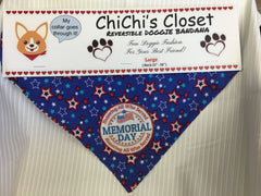 Memorial Day Holiday Dog Bandana