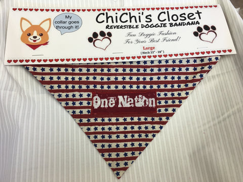 One Nation Dog Bandana