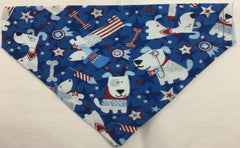 4th of July Reversible Dog Bandana Dog