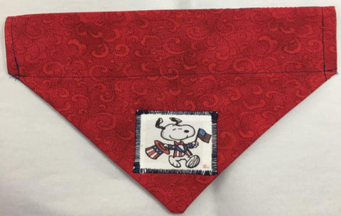 4th of July Reversible Through the Collar  Dog Bandana snoopy