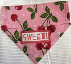Sweet Cherry Girl's Dog Bandana
