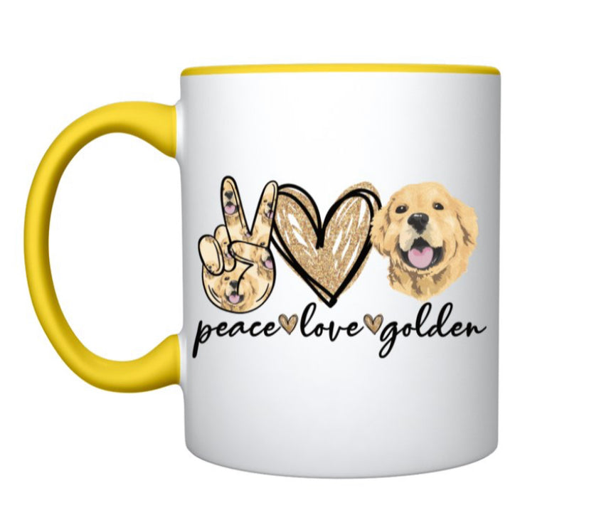 Coffee Mug - Peace love Golden