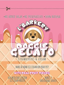 L'Barkery Doggie Gelato - Strawberry & Cream
