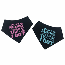 Load image into Gallery viewer, Ain't no Mama Snap bandana - Pink or Blue text (Made to order)