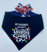 Load image into Gallery viewer, Christmas Lights Reversible Snap Bandana