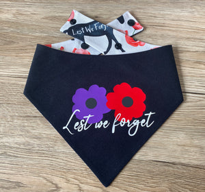Anzac Day Reversible Snap bandana - Only XS left (Made to order)