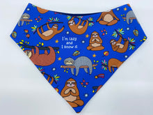 Load image into Gallery viewer, Lazy and I know it Snap Bandana (Made to order)