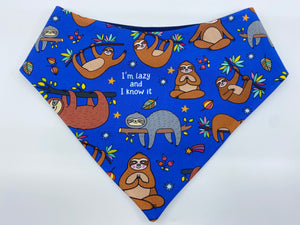 Lazy and I know it Snap Bandana (Made to order)