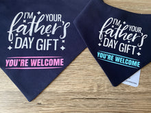 Load image into Gallery viewer, Father's Day Snap bandana -Pink (Made to order)