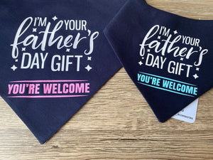 Father's Day Snap bandana -Pink (Made to order)