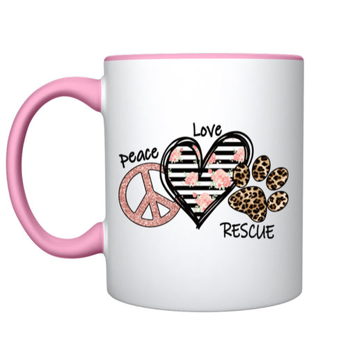 Coffee Mug - Peace Love Rescue