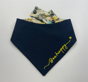 Our new 'Bee Happy' Reversible Snap bandana (Made to order)