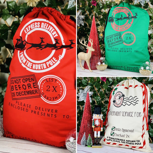 Personalised Santa Sacks - Ready to ship