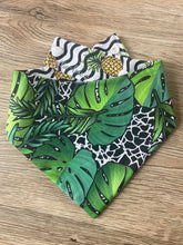 Load image into Gallery viewer, Tropical Reversible Snap bandana