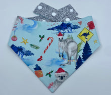 Load image into Gallery viewer, Personalised Christmas downunder Reversible Snap bandana