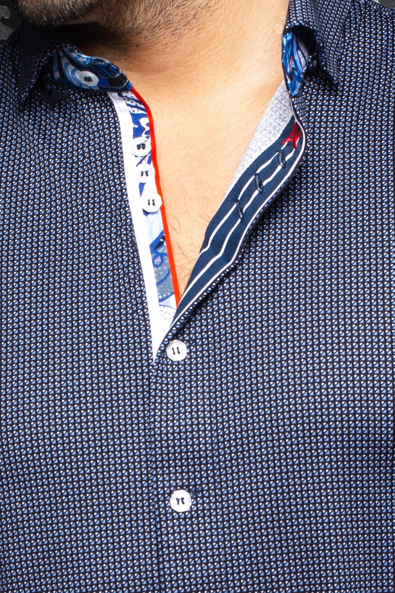 Au Noir Stretch Shirt | Belotti Navy